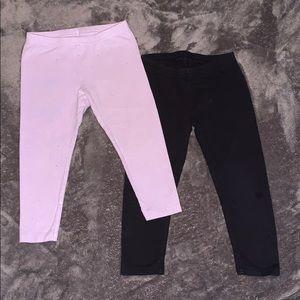 2 for 1 - Lavender sparkle and black 3T leggings